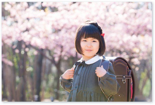 桜とこどもを撮る