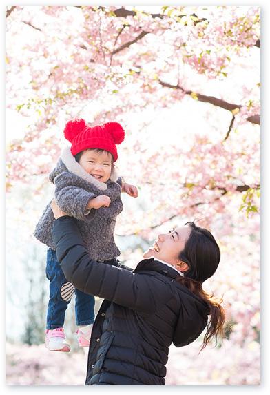 桜と一緒に1